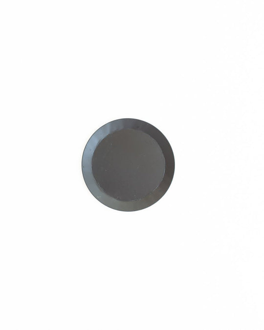 Small Round Metal Tray in Black