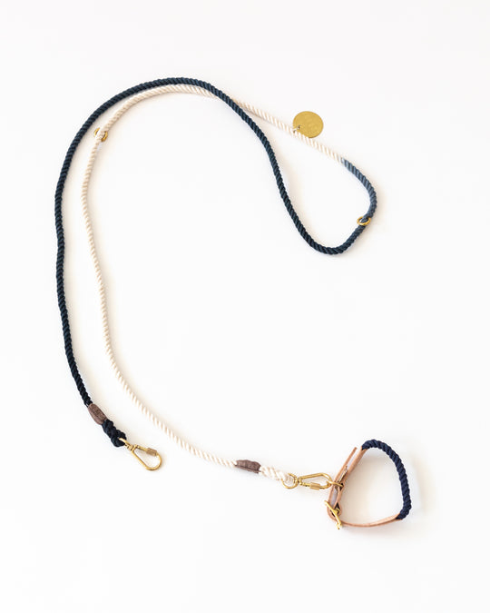 Rope Leash in Navy