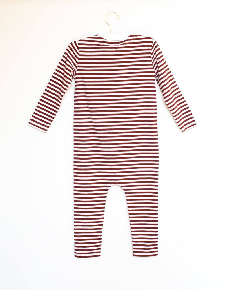Playsuit Burgundy White Stripe