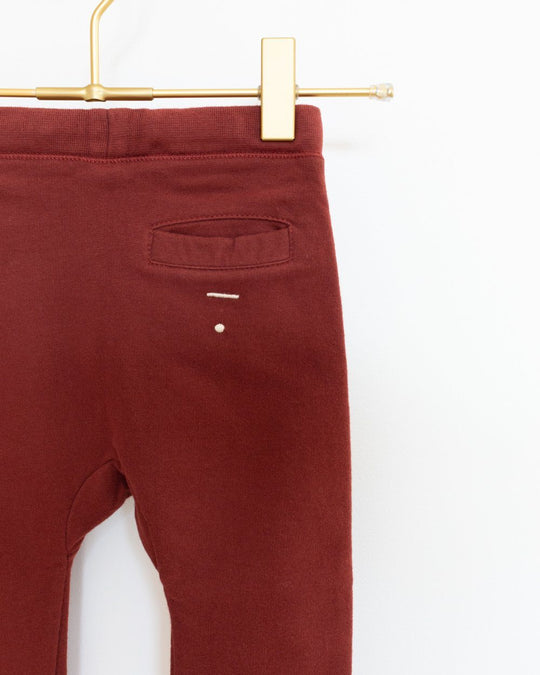 Seamless Baggy Pants in Burgundy