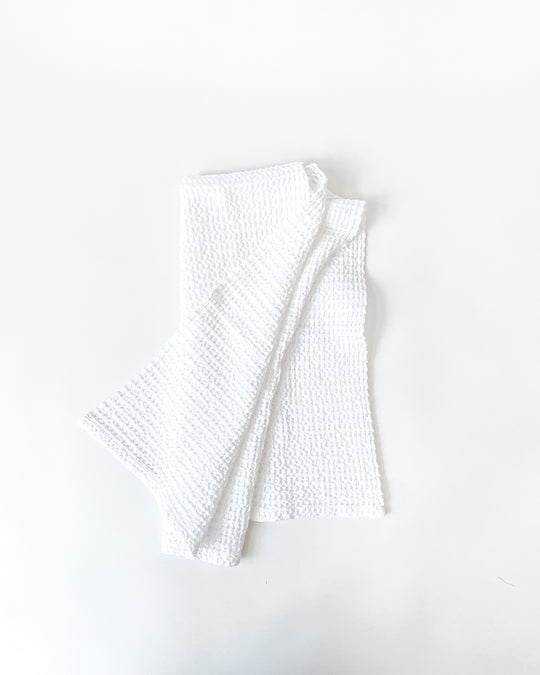 Simple Waffle Hand Towel in White