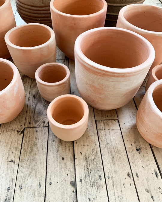 Terracotta Footed Planter in Medium