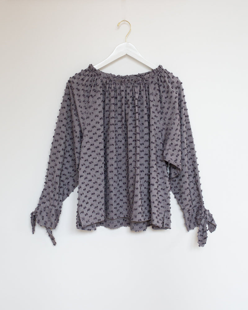 Cecile Raglan Top in Storm Tuft
