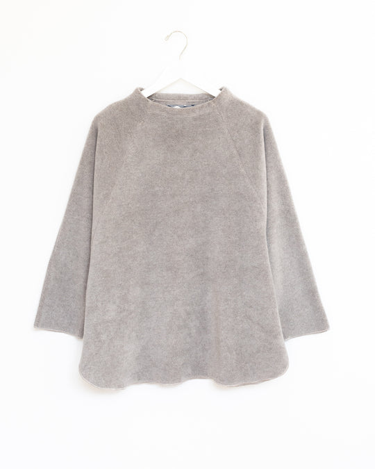 Purnell Mock Neck Top in Chinchilla Heather