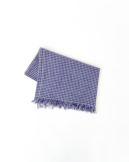 Boil Washer Gingham Stole in Blue