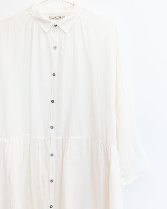 Cotton Linen Dress in White