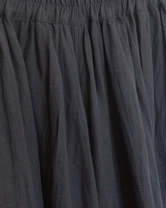 Cotton Linen Pants in Black