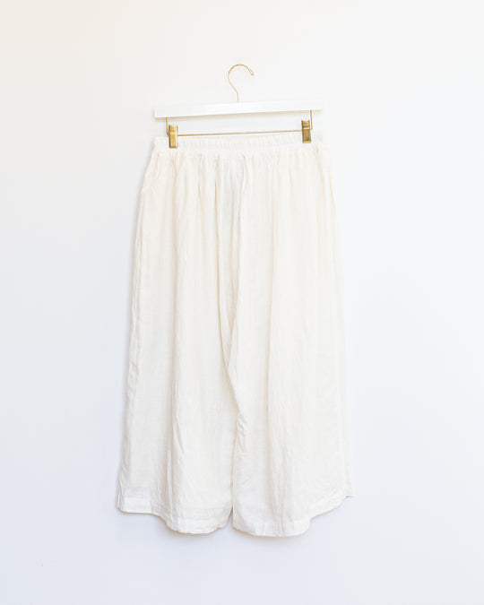 Cotton Linen Pants in White