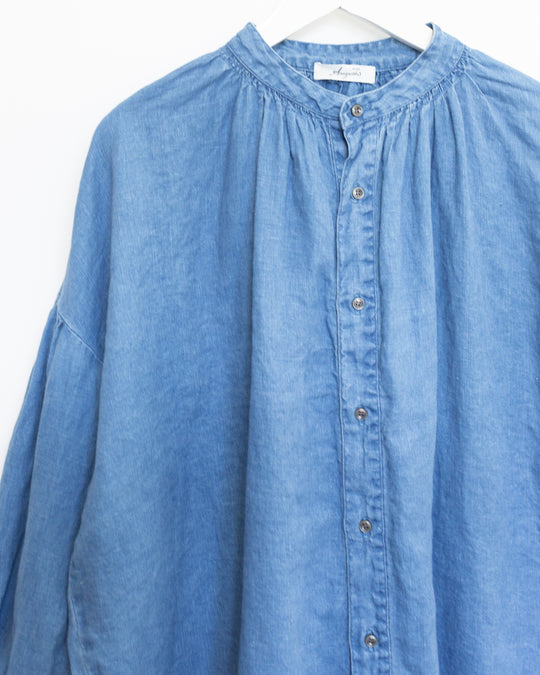 Indigo Bleach Shirt in Light