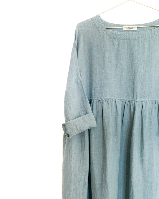 Linen Dress in Sea Foam