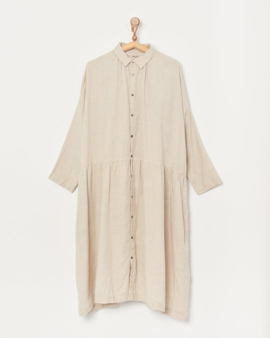 Twill Tumbler Dress in Natural