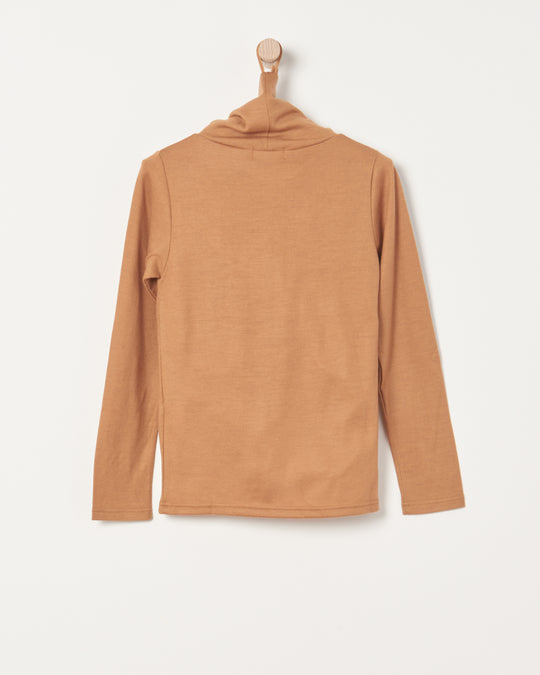 Wool Turtleneck in Camel