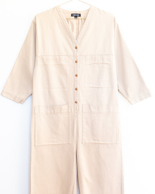 Tuck Coverall in Toast