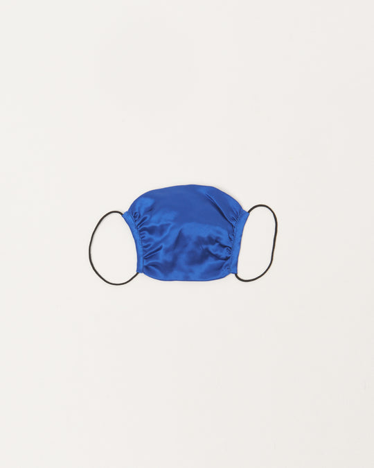 Peace Masks in Cobalt Silk