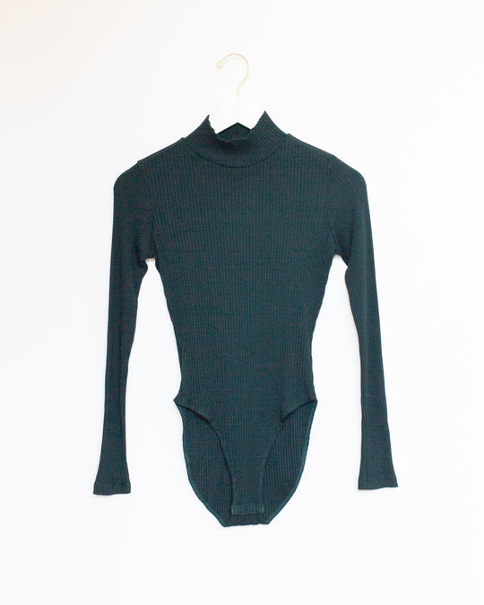 Turtleneck Bodysuit in Forest