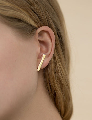 Long Plate Stud in Gold