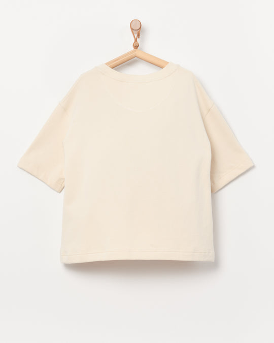 Short Sleeve Sweatshirt in Natural
