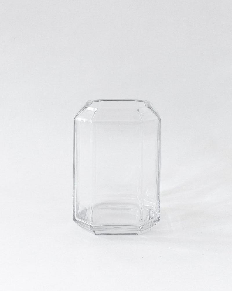Large Jewel Vase in Clear
