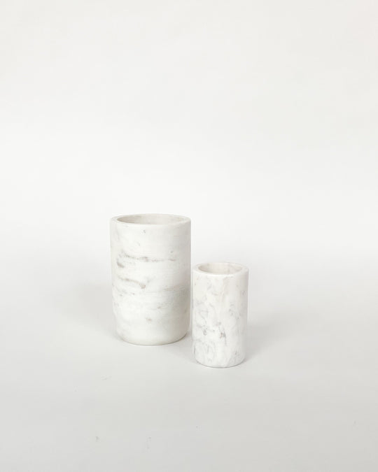 Mia Vase in White Marble
