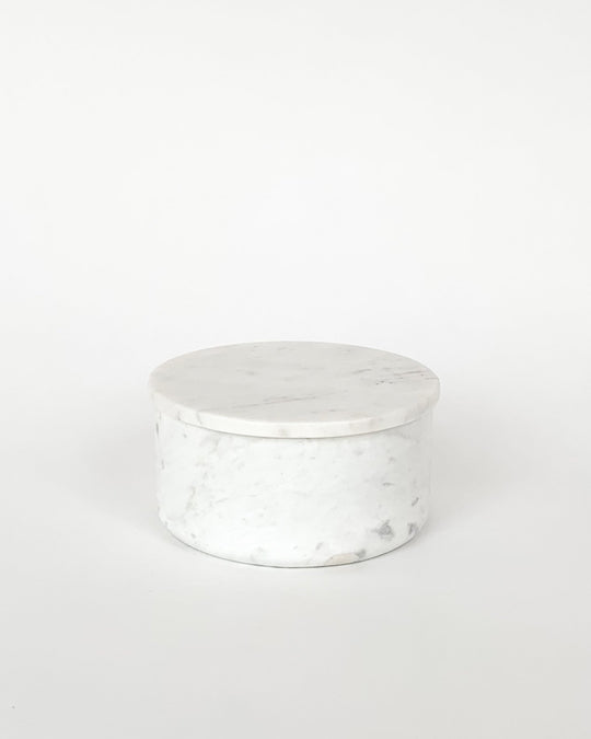 Molly Bowl in White Marble