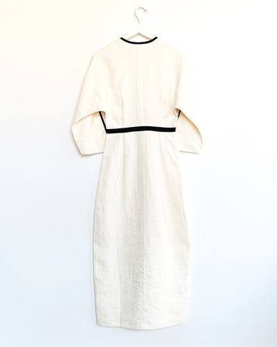 Annetta Dress in Cream and Black