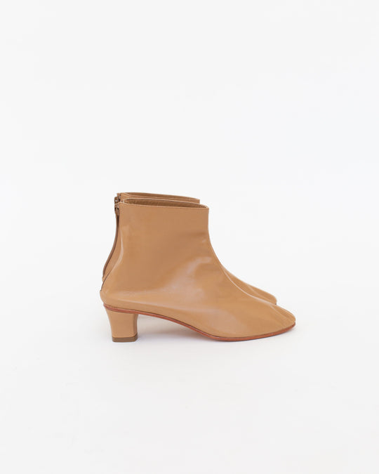 High Leone Ankle Boot in Camel