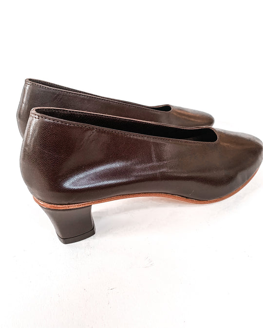 High Glove Shoe in Dark Umber