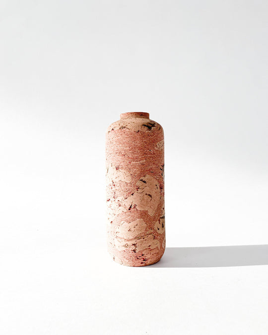 Pink Marbled Cork Vase