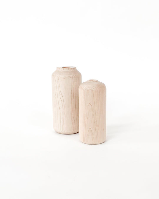 Tall and Wide Maple Vase