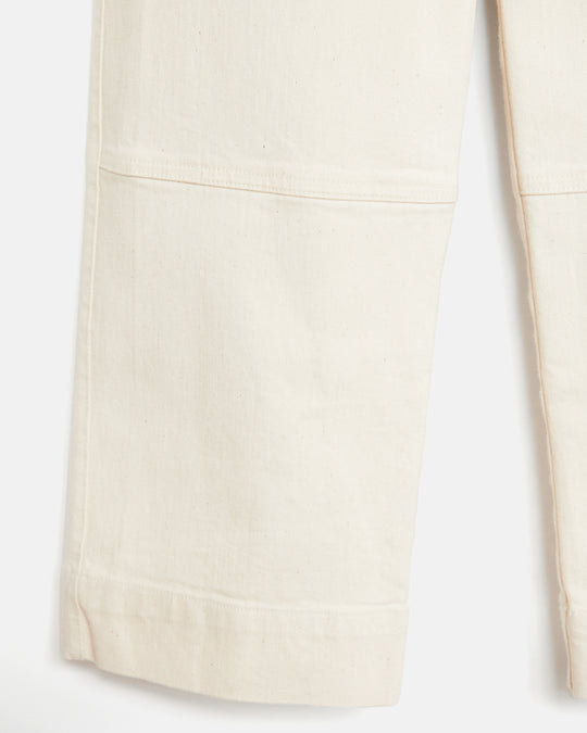Seamed Jeans in Cream
