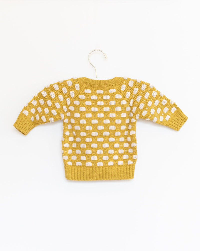 Baby Dot Sweater in Mustard