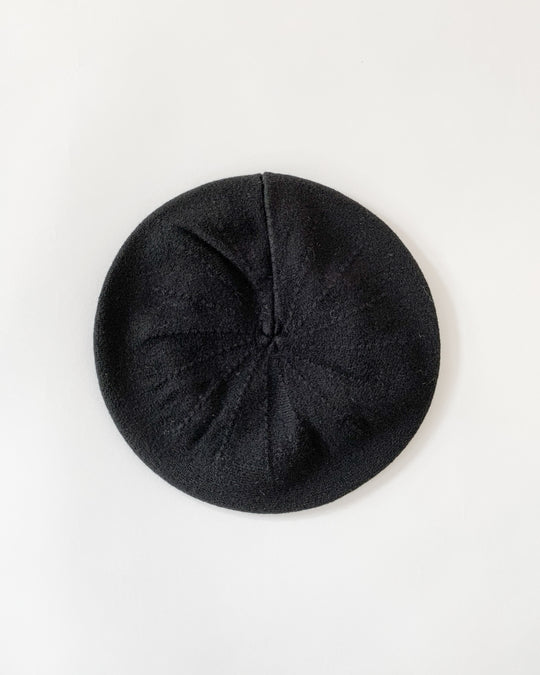 Felted Beret in Black