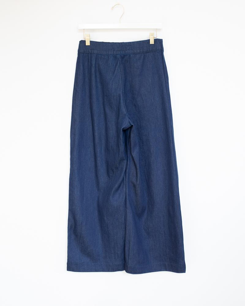 Knotted Sailor Pant in Vintage Blue Denim