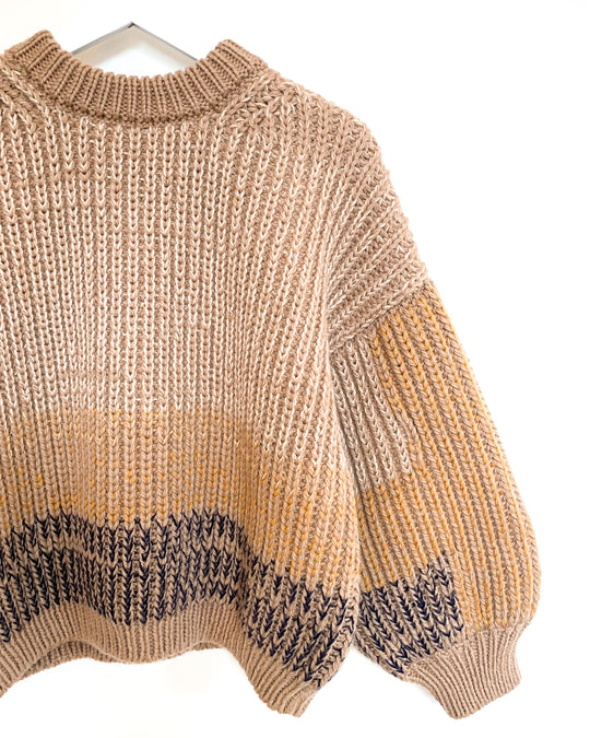 Ombre Sweater in Flax