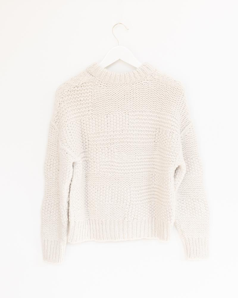 Ply Knit Pullover in Cream
