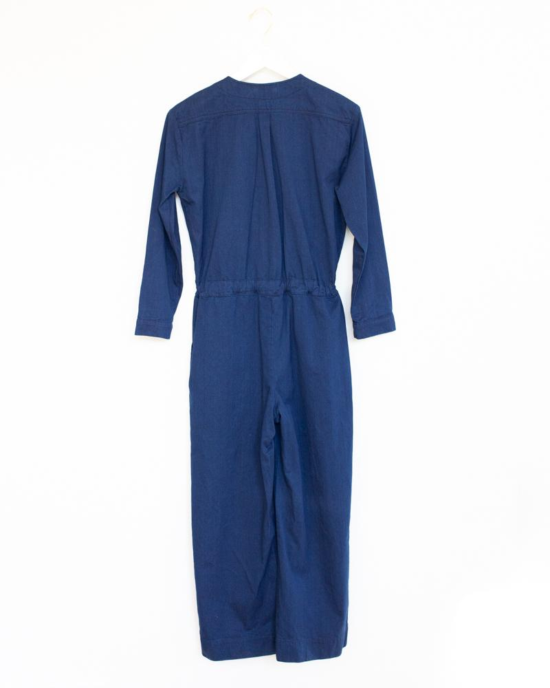 Tie Coverall in Blue Denim