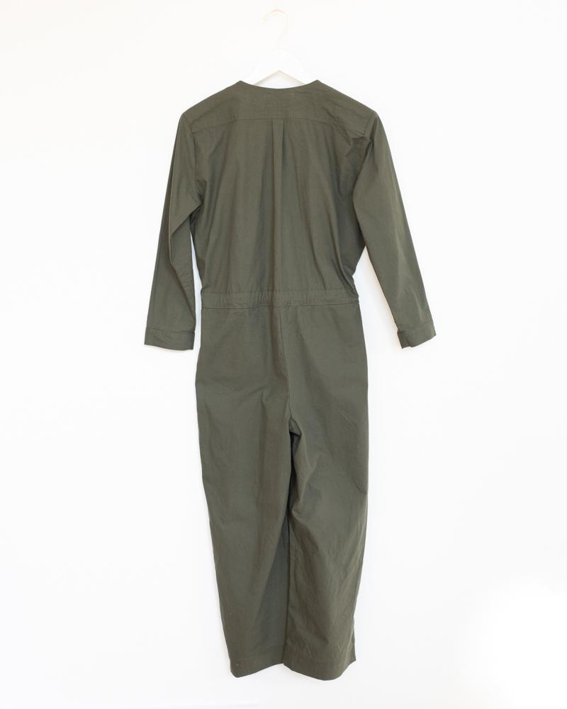 Tie Coverall in Olive