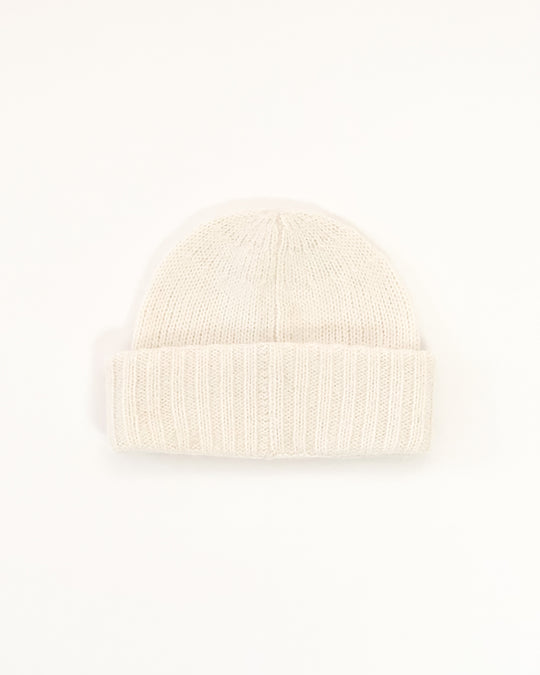 Wooly Beanie in Cream
