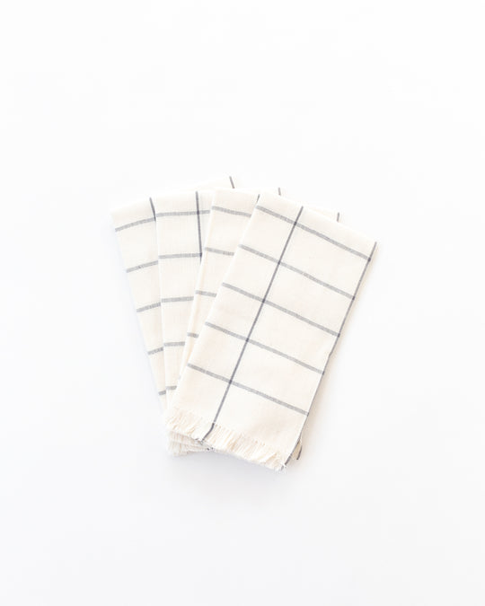 Grid Napkins in Cream