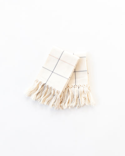 Grid Towel in Cream