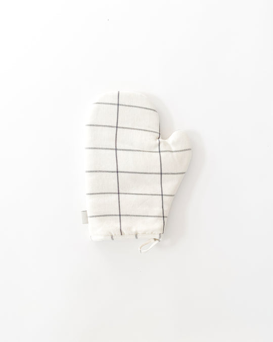 Grid Oven Mitt in Cream