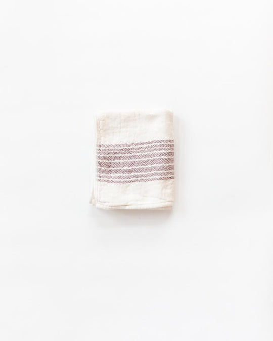 Flax Line Towels in Maroon