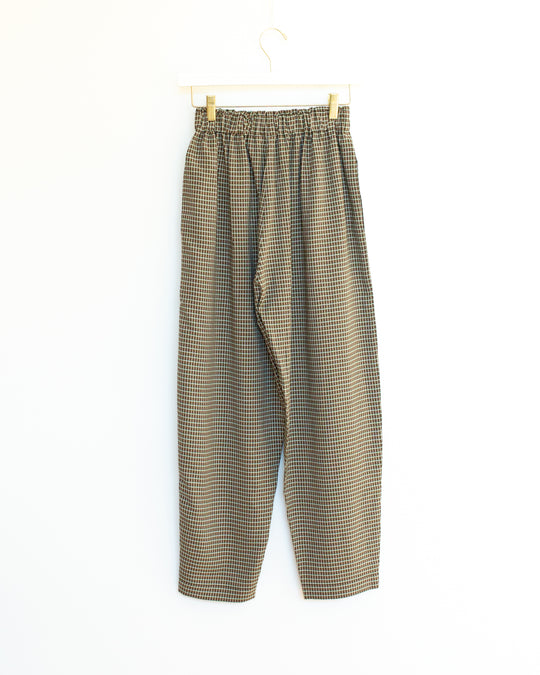 Bell Pant in Olive Plaid