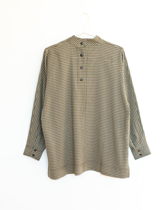 Rainey Shirt in Olive Plaid
