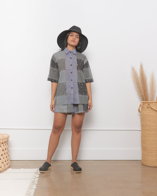 Leigh Shirt in Patchwork Gingham