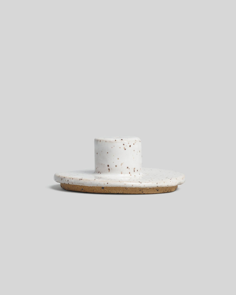 Incense Burner in White Speckle