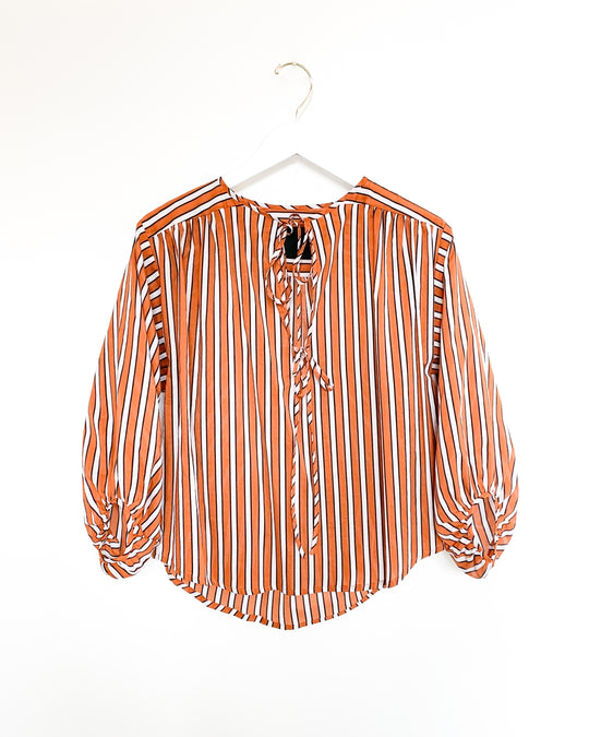 Malta Top in Tobacco Stripe