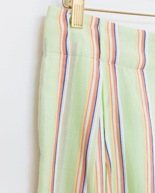 Sorrento Trouser in Mint Stripe