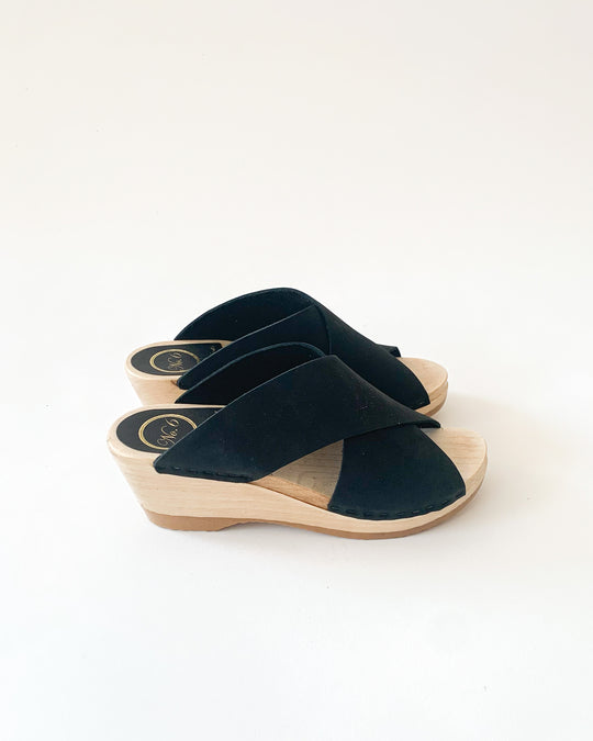 Frida Mid Wedge Clog in Midnight