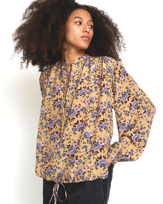 Hanna Top in Camel Bouquet
